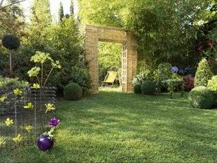 Un jardin bien organisé