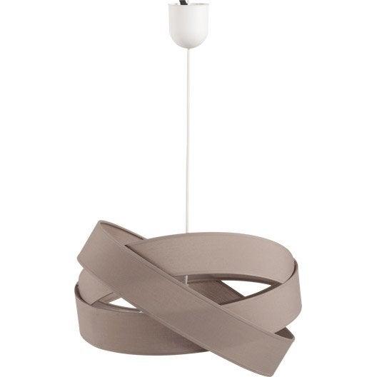 suspension design bijou pm coton brun taupe 1 x 60 w metropolight leroy merlin. Black Bedroom Furniture Sets. Home Design Ideas