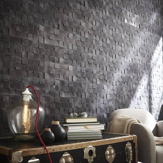 plaquette de parement b ton anthracite square leroy merlin. Black Bedroom Furniture Sets. Home Design Ideas