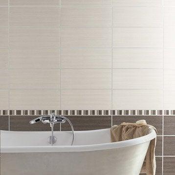 Carrelage mural et fa ence pour salle de bains et cr dence - Carrelage adhesif salle de bain leroy merlin ...