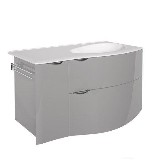 Meuble sous vasque x x cm gris for Meuble sous vasque 100 cm