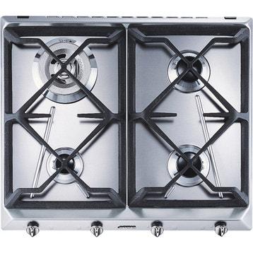 Plaque de cuisson gaz lectrique vitroc ramique - Table vitroceramique blanche ...