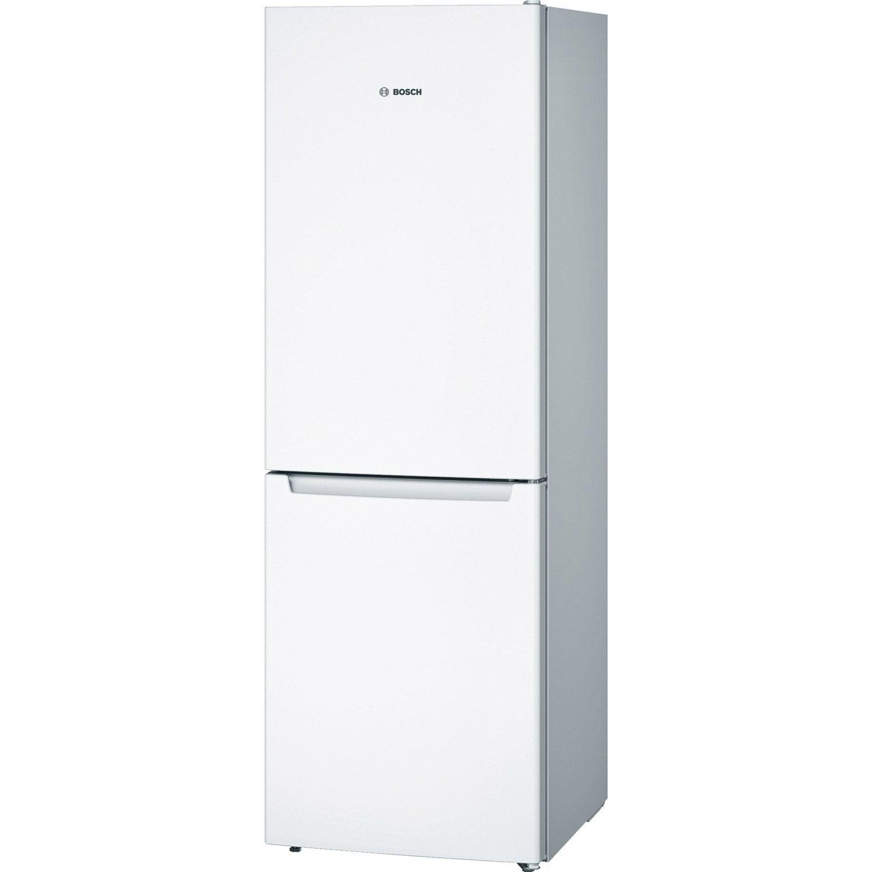 réfrigérateur à poser bosch kgn33nw30 blanc   leroy merlin