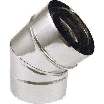 Coude pour conduit double paroi ISOTIP JONCOUXDiam.80 mm 45°