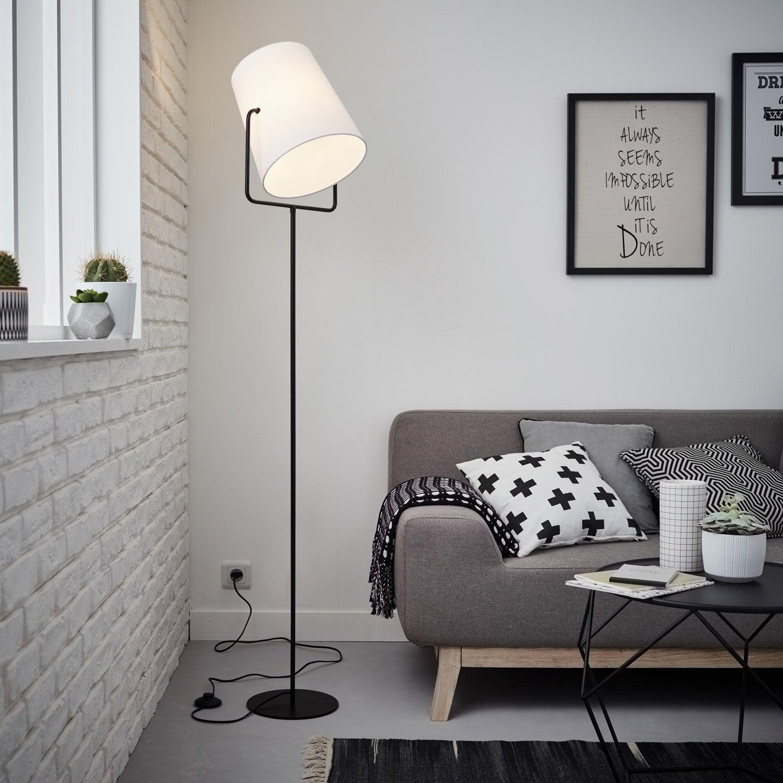 Lampadaire Bucket BRILLIANT, 162 cm, blanc, 60 W