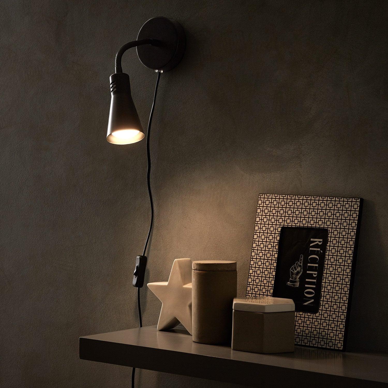 Applique, pop métal noir INSPIRE Skit 1 lumière(s)