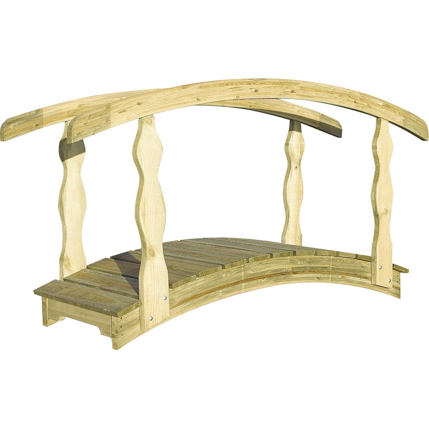 Pont en bois décoratif, Québec BURGER, 180x110cm   Leroy Merlin