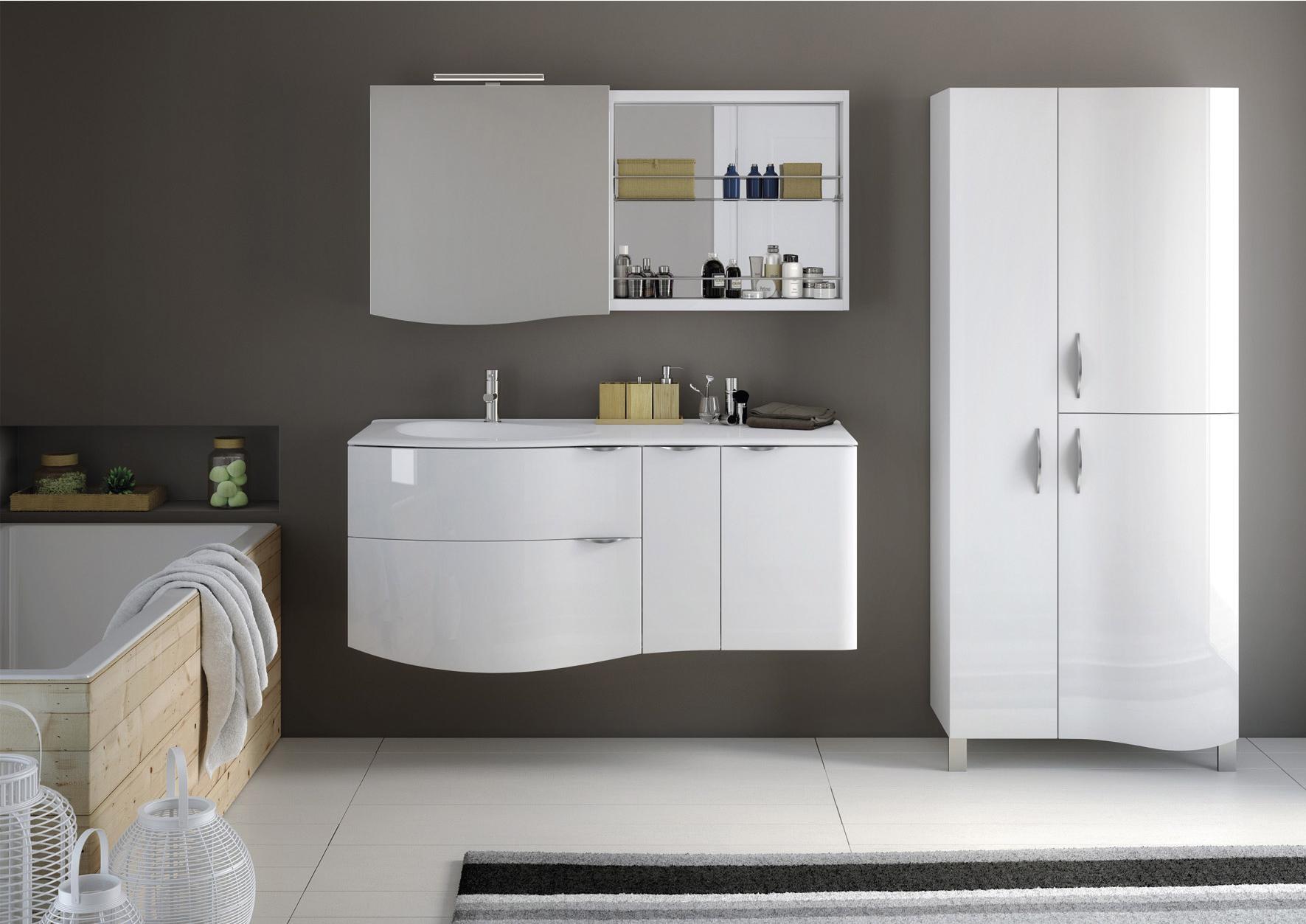 Meuble vasque 100 cm blanc, Elegance