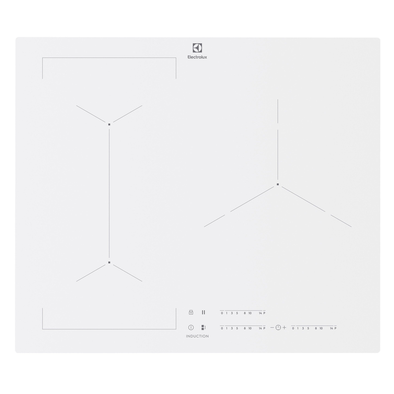 Plaque à Induction 3 Foyers Blanche Electrolux Eiv63342cw