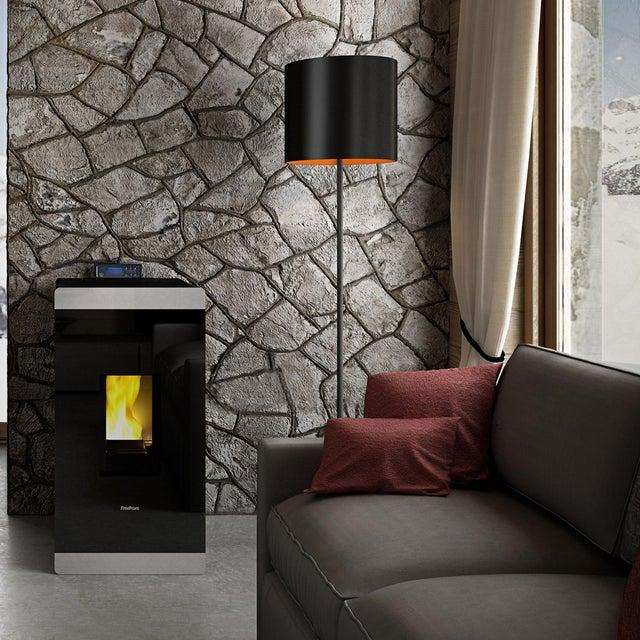 Poele A Granules Freepoint Glass Airtight Noir Gris Multisep Noir 8 6 Kw Leroy Merlin