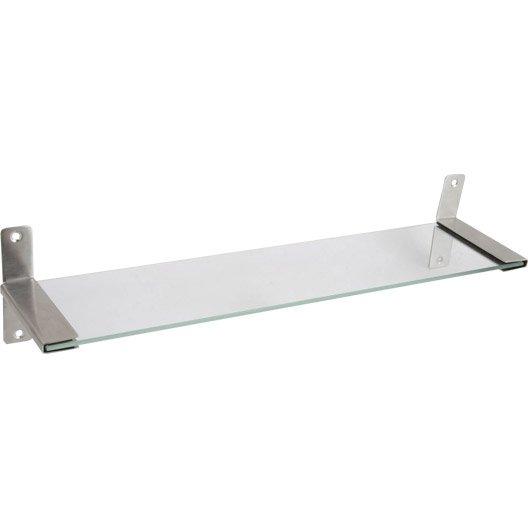 Tablette loft chrom leroy merlin for Tablette salle de bain