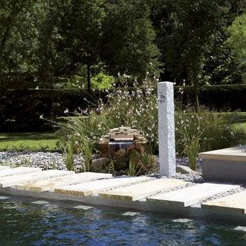 Fontaine et cascade d 39 exterieur pierre fonte leroy merlin for Fontaine de jardin oslo