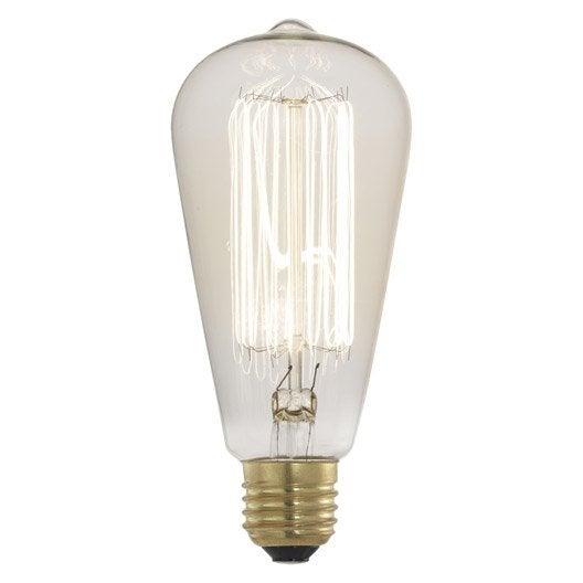 Ampoule autres incandescent 60 e27 lumi re chaude env - Ampoule lumiere du jour leroy merlin ...