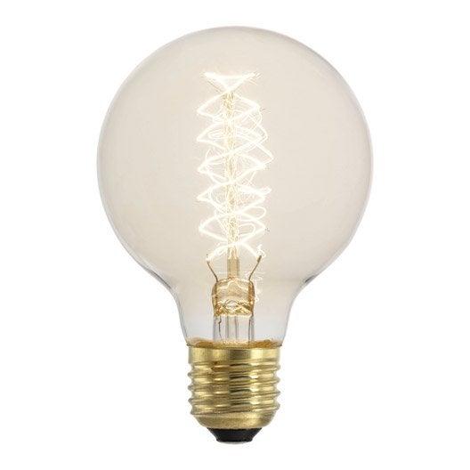 ampoule filament globe incandescente 60w e27 2700k eglo leroy merlin. Black Bedroom Furniture Sets. Home Design Ideas