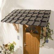 Auvent en kit Rustique, structure en chêne, 150 x 110 x 75 cm