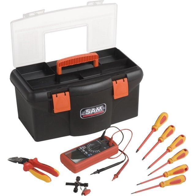 Boîte à Outils D électricien 9 Pièces Sam Outillage