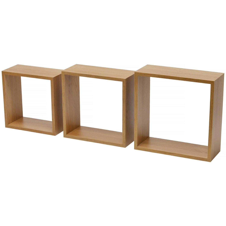 etag re 3 cubes imitation ch ne naturel x cm ep. Black Bedroom Furniture Sets. Home Design Ideas