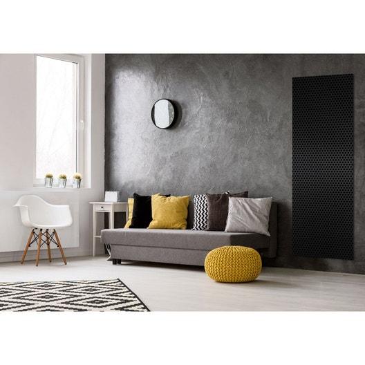 radiateur lectrique rayonnement decowatt velours noir 1200 w leroy merlin. Black Bedroom Furniture Sets. Home Design Ideas