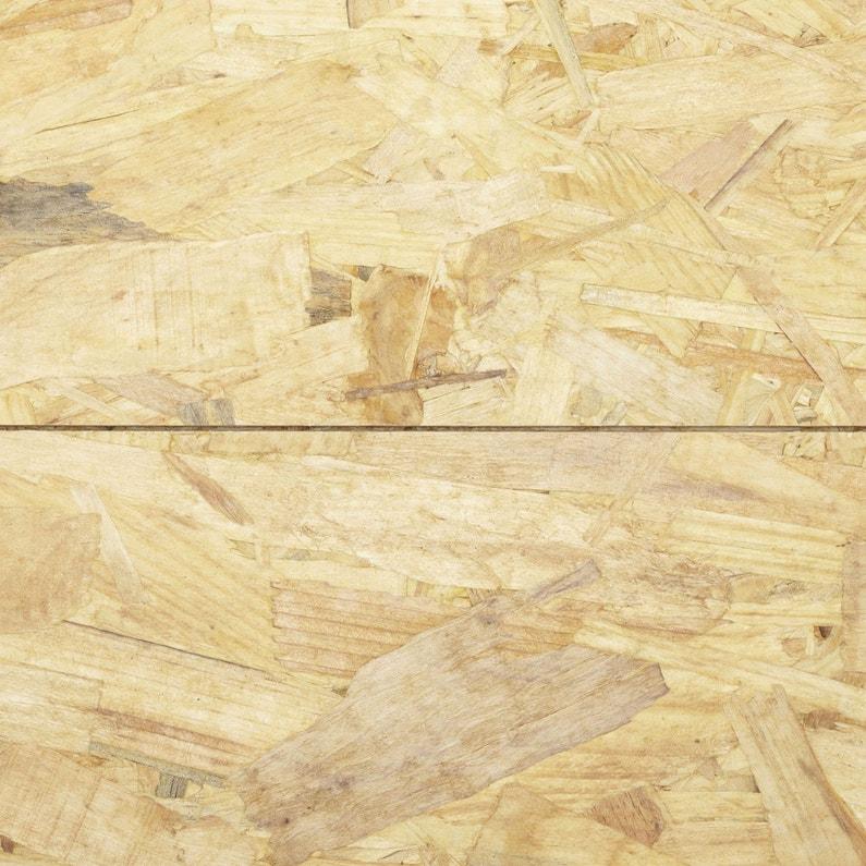 Dalle de plancher osb 3 3 plis épicéa naturel, Ep.22 mm x L.250 x l ...