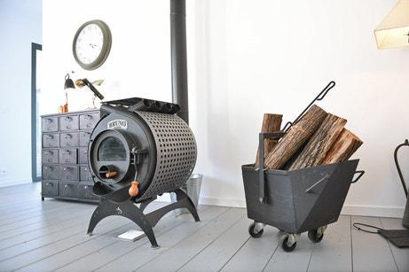 Le poêle à bois rétro de Yann à Montclus