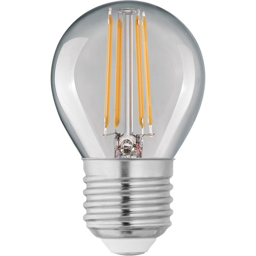 ampoule led filament ronde e27 4w 470lm quiv 40w 4000k lexman leroy merlin. Black Bedroom Furniture Sets. Home Design Ideas