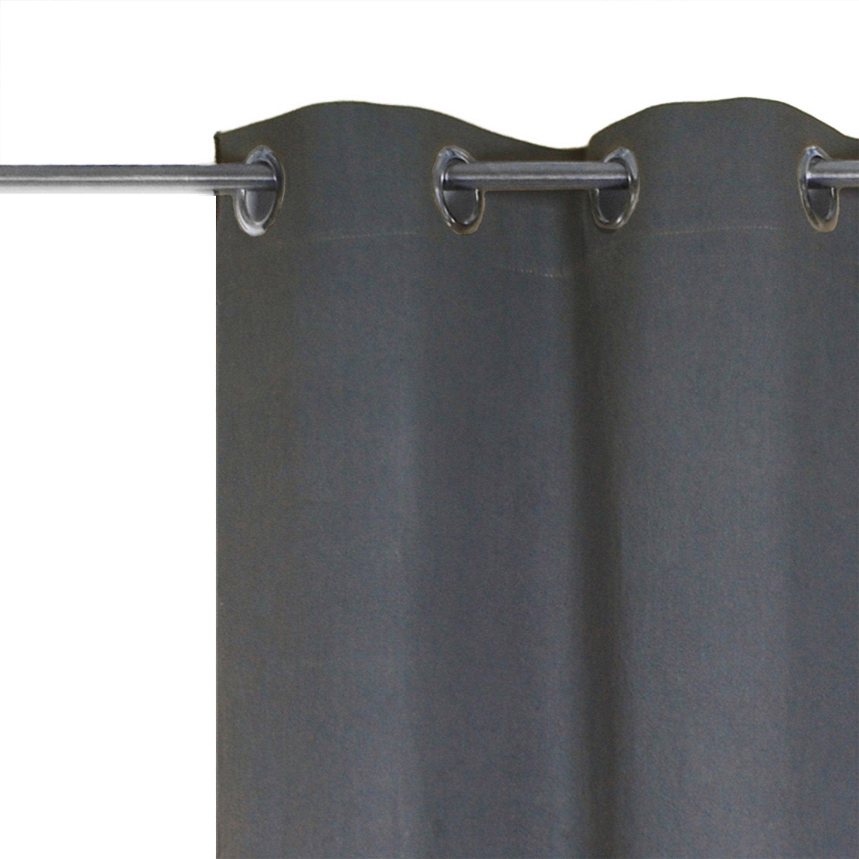Rideau occultant, lin, Jeanne gris l.135.0 x H.280.0 cm