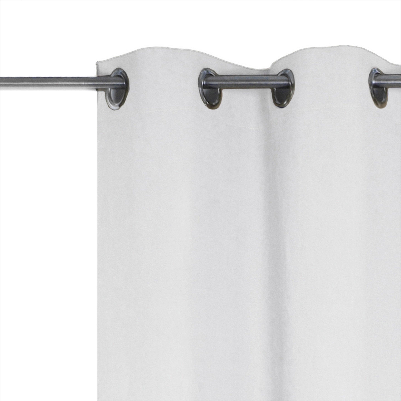 Rideau tamisant, lin, Jeanne blanc l.135 x H.280 cm