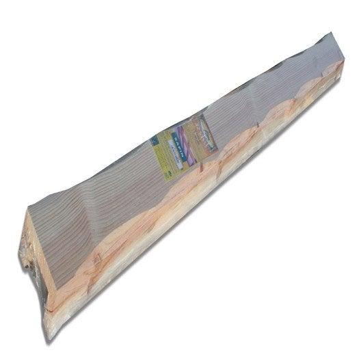 poutre pin creuse l 6 x cm l 2 5 m leroy merlin. Black Bedroom Furniture Sets. Home Design Ideas