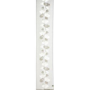 Panneau japonais Leiko, blanc, 260 x 50 cm
