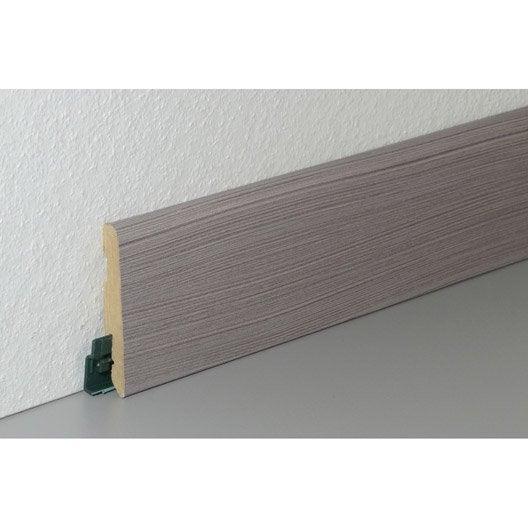 plinthe sol stratifi gris vein cm x x mm leroy merlin. Black Bedroom Furniture Sets. Home Design Ideas