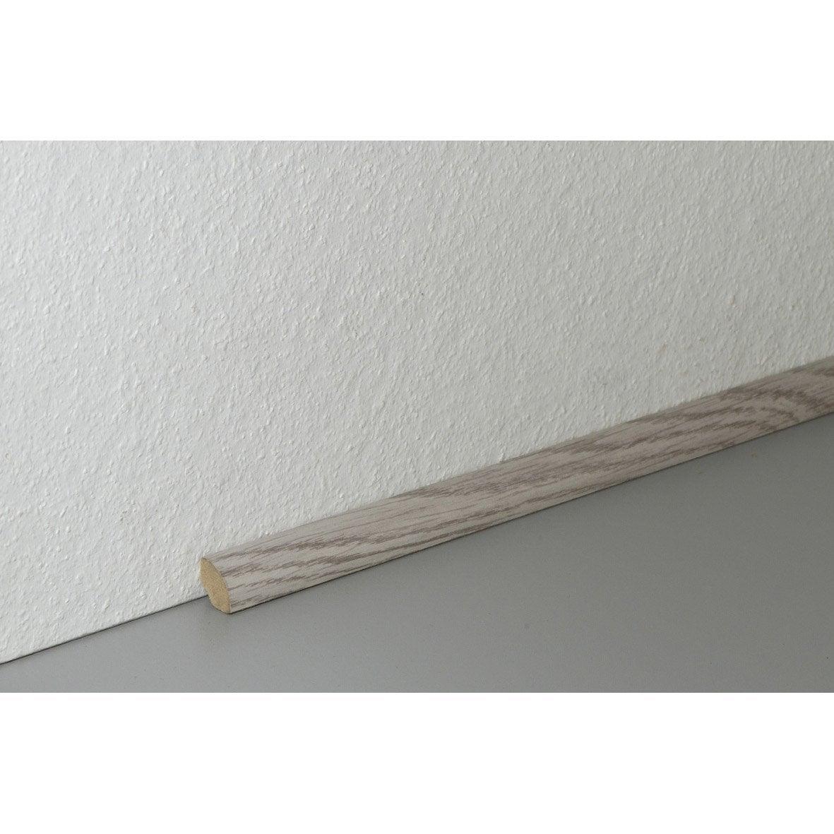 Poser Un Quart De Rond Carrelage quart-de-rond sol stratifié décor n°90, l.220 cm x h.14 x ep.14 mm
