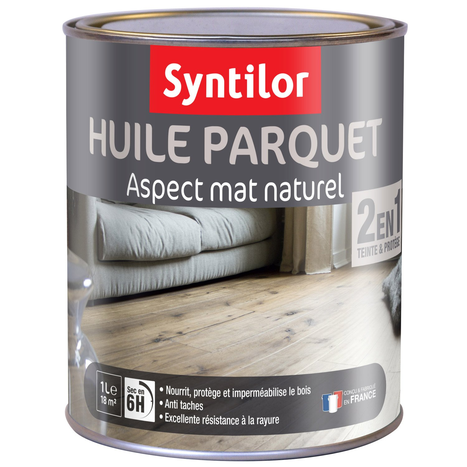 huile parquet 2 en 1 syntilor 1 l naturelle leroy merlin. Black Bedroom Furniture Sets. Home Design Ideas