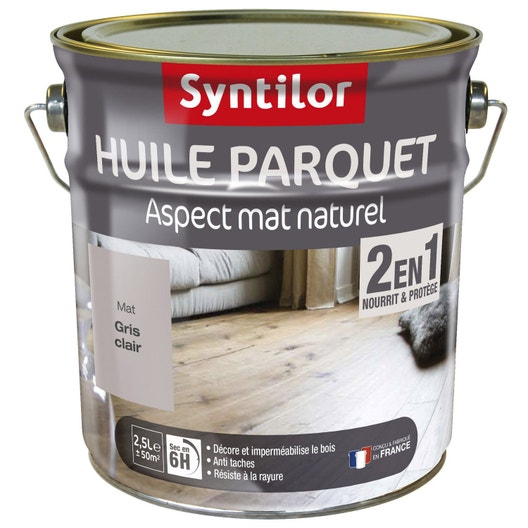huile parquet 2 en 1 syntilor 2 5 l blanc leroy merlin. Black Bedroom Furniture Sets. Home Design Ideas