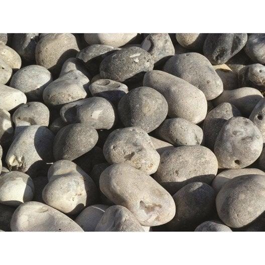 Galet en pierre naturelle, gris, 4060 mm, 25 kg