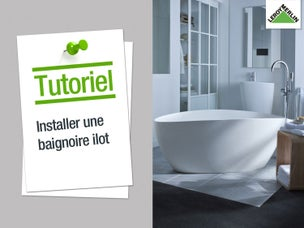 une salle de bains chic et contemporaine dans 10m leroy merlin. Black Bedroom Furniture Sets. Home Design Ideas