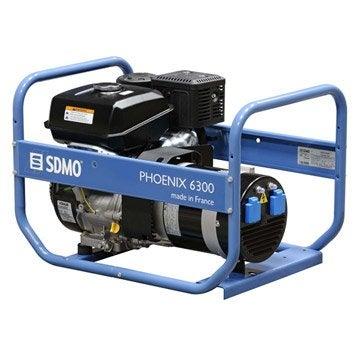 Groupe électrogène essence de chantier SDMO Phoenix 6300, 6500 W