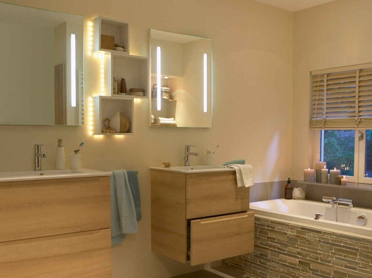 Tout savoir sur l\'éclairage dans la salle de bains | Leroy ...