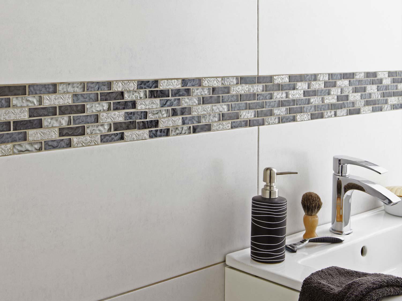 Frise salle de bain autocollante for Salle de douche leroy merlin