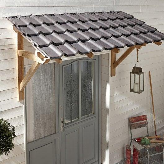 Auvent en kit structure en ch ne 205 x 110 x 70 cm - Auvent de terrasse leroy merlin ...