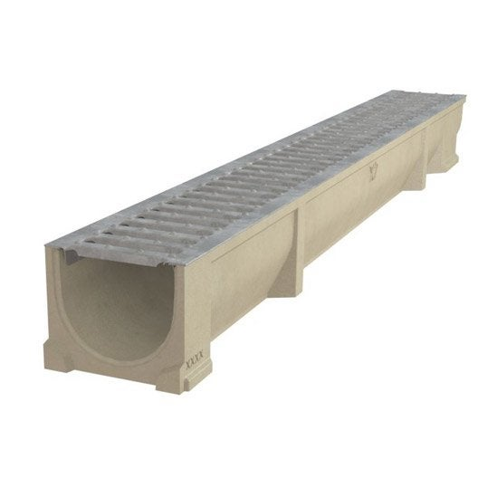 caniveau avec grille en acier galvanis alfaself 100. Black Bedroom Furniture Sets. Home Design Ideas