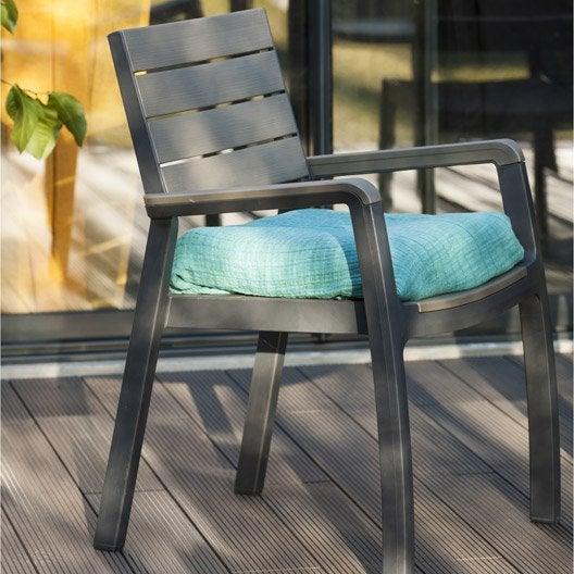 fauteuil de jardin en r sine harmony couleur anthracite keter leroy merlin. Black Bedroom Furniture Sets. Home Design Ideas