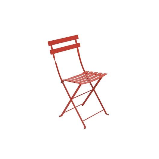 Chaise de jardin en acier Bistro capucine | Leroy Merlin
