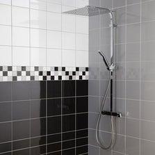Faïence mur noir noir, Astuce l.10 x L.20 cm