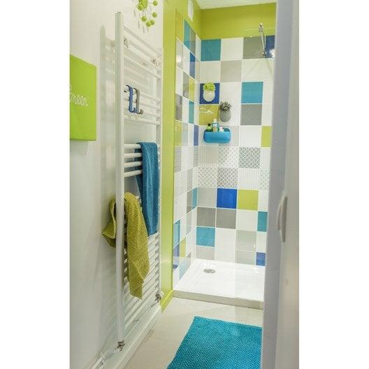 fa ence mur bleu atoll astuce x cm leroy merlin. Black Bedroom Furniture Sets. Home Design Ideas