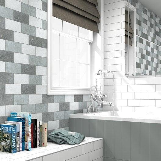 Fa ence mur gris clair astuce x cm leroy merlin - Couleur mur avec carrelage gris clair ...