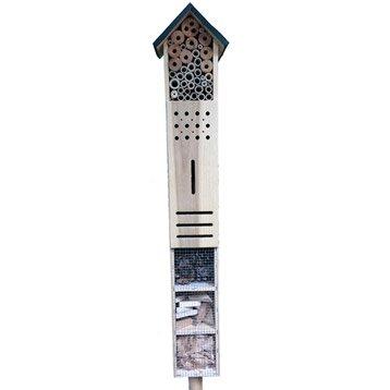 Hôtel à insectes Totem avec pied bois