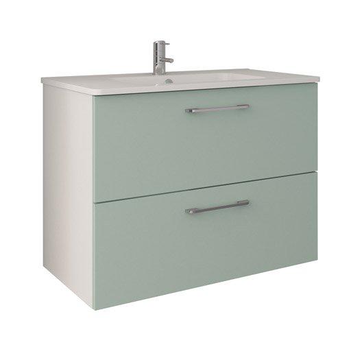 Meuble de salle de bains meuble vasque miroir colonne for Meuble sous vasque 60 cm