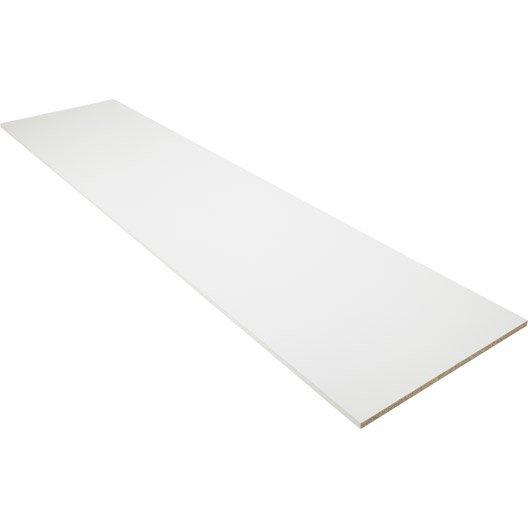 Tablette papier blanc, L.250 x l.50 cm x Ep.18 mm