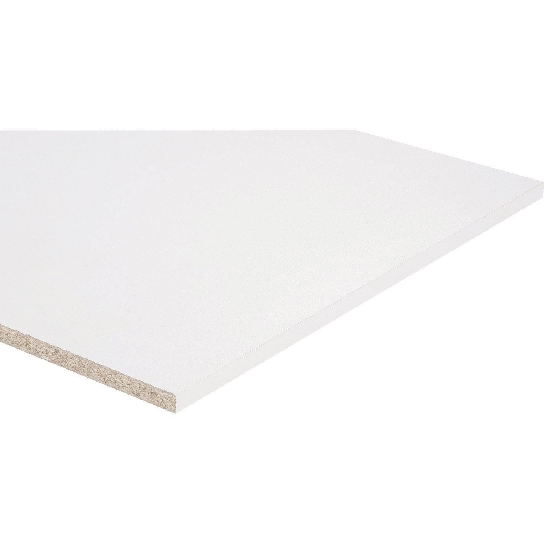 Tablette Agglomérée Blanc L 250 X L 60 Cm X Ep 18 Mm Leroy Merlin