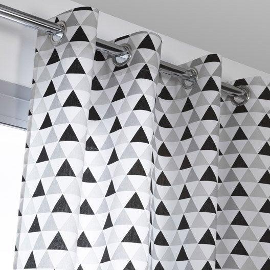 rideau noir et blanc design good top amazing rideau oeillets x esteban douceur duinterieur la. Black Bedroom Furniture Sets. Home Design Ideas